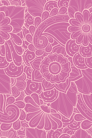 fillings: Seamless pattern with stylized flowers. Ornate seamless texture, pattern with abstract flowers. Floral pattern can be used for wallpaper, pattern fills, web page background.