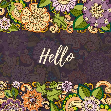 Floral card. modèle de vecteur d'identité d'entreprise. ?uvres d'affaires avec aquarelle splash. Contexte pour le web, imprimé media design. Bannière, carte de visite, flyer, invitation, carte de voeux, carte postale. Vecteurs