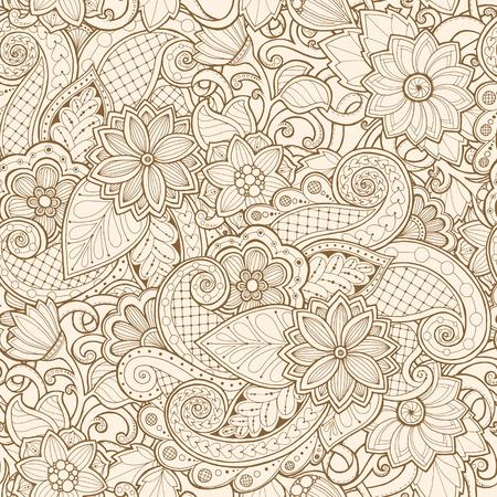motif ethnique homogène ornementale. modèle de conception florale peut être utilisé pour le papier peint, motifs de remplissage, textile, tissu, emballage, textures de surface pour la conception