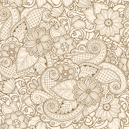 Ornamental seamless ethnic pattern. Floral design template can be used for wallpaper, pattern fills, textile, fabric, wrapping, surface textures for design
