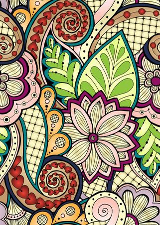 Patrón sin fisuras con flores estilizadas. textura transparente adornado, modelo con las flores abstractas. estampado de flores se puede utilizar para fondos de escritorio, patrones de relleno, de fondo página web.