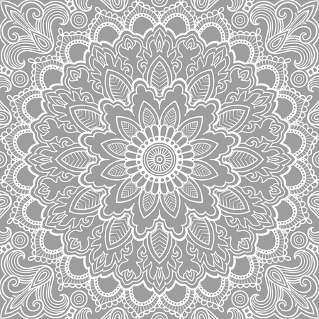 Mandala Vector tattoo. Perfect card for any kind of design, birthday and other holiday, kaleidoscope, medallion, coloring book. Yoga, india, arabic, Islam motifs. Monochrom background.