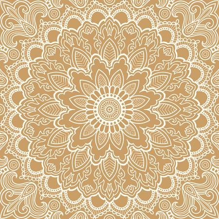 Mandala Vector tattoo. Islam, Arabic, Indian, asian motifs.