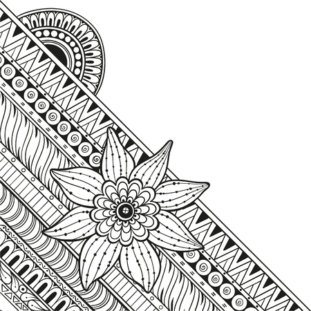 Mandala Vector tattoo. Perfect card for any other kind of design, birthday and other holiday, kaleidoscope.