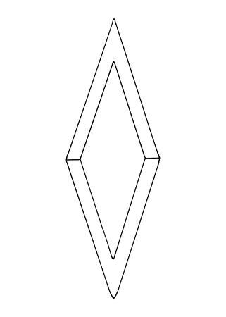 Diamant, Kristall, Logo der Elemente der Natur. Elemente von Ethno, Fantasy, Antike, Amulette, geheime Symbole. Gekritzel, handgezeichnet, Umriss.
