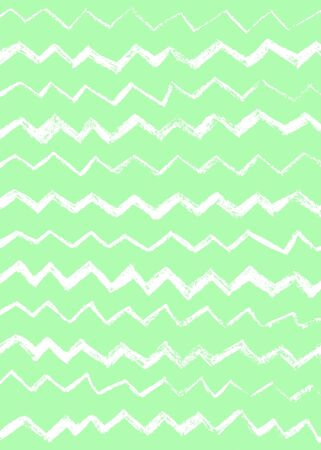 Abstract simple cool background with zigzag stripes, broken lines, waves, brush strokes. Hand drawn texture with chevron. Hipster graphic design. Фото со стока
