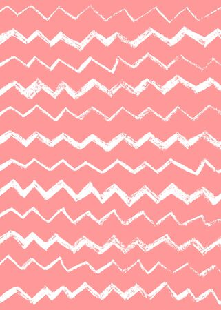 Abstract simple cool background with zigzag stripes, broken lines, waves, brush strokes. Hand drawn texture with chevron. Hipster graphic design.