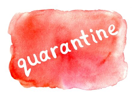 Watercolor lettering on theme of quarantine, self-isolation times and coronavirus prevention. Phrase for social networks, flyers, stickers, typography poster.
