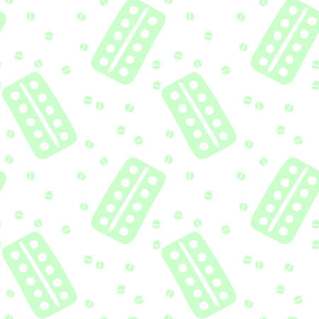 Seamless pattern with medicines, drugs, pills and tablets. Medical pharmacy backgrounds and textures. 向量圖像