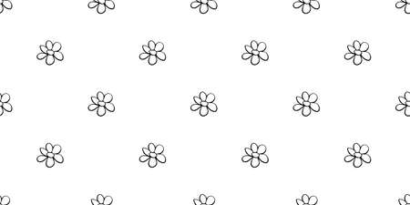 Vector simple primitive floral seamless pattern. Cute endless print with flowers drawn by hand. Sketch, doodle, scribble.
