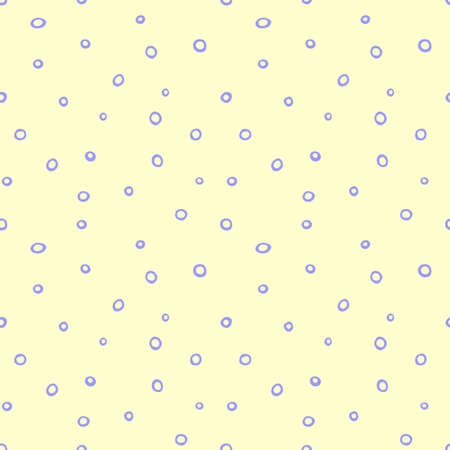 Spotted abstract vector background. Cute pastel seamless pattern with spots, asymmetric random polka dots, circles, bubbles. Design for fabric, wrapping paper. Fun simple texture, backdrop.