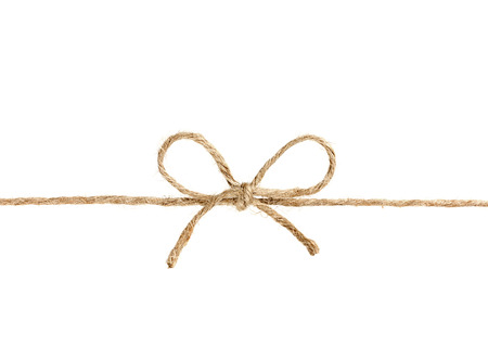 string or twine tied in a bow isolated on white background Stock Photo
