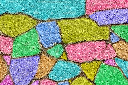 fragments: vintage background from colorful fragments of asphalt