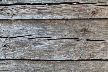 crannied: Wooden wall for background. Vintage texture or surface. Old gray boards.