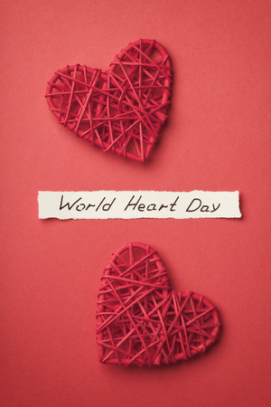 universal love: World Heart Day concept top view