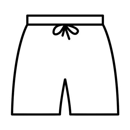 swimshorts outline icon. minimalistic flat design for web, mobile logo and identity Illustration