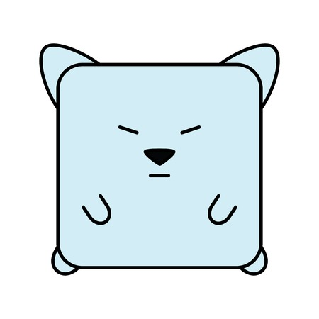 Cute kitten animal collectible icon illustration.