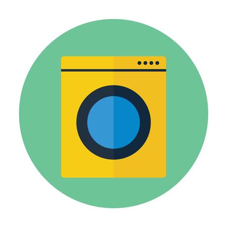 Washing Machine Flat Icon Laundry Symbol For Web Design And