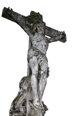 The Crucifixion of Jesus of marble Stock Photo