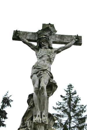 The Crucifixion of Jesus of marble photo