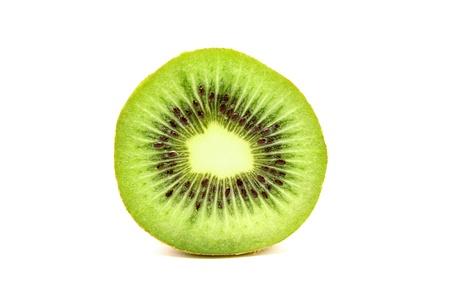 seminal: Kiwi fruit on a white Stock Photo