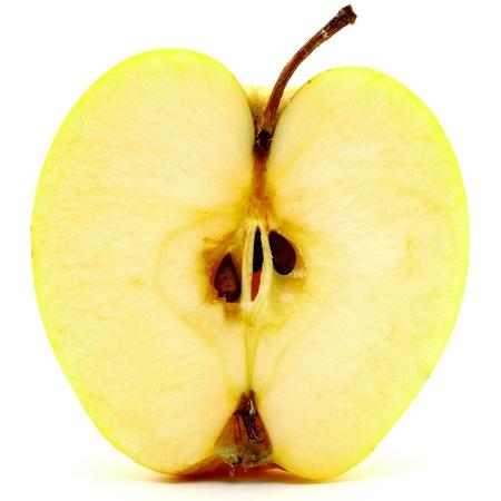 Beautiful apple closeup on white background photo