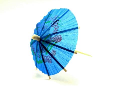 Blue cocktail umbrella