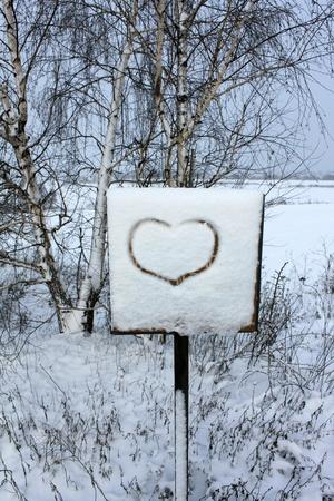 Beautiful heart to the Valentine's Day Standard-Bild