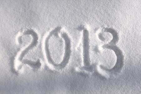 Year 2013 written in snow