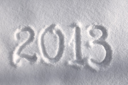 Year 2013 written in snow