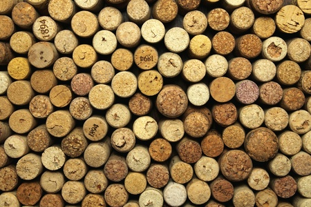 A lot of wine corks for a beautiful background Standard-Bild
