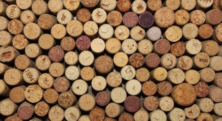 brown cork: many different wine corks