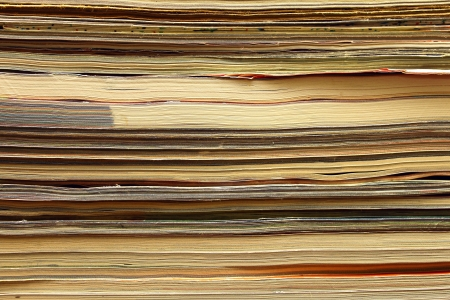 Magazines stack close-up, abstract background Stock Photo - 17883612
