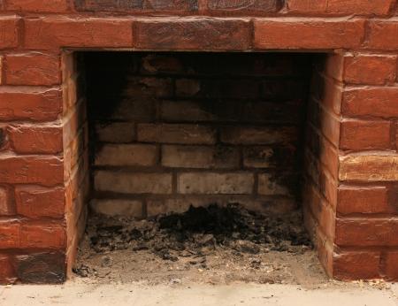 vago: Pano de fundo de uma parede lareira de tijolos em um cen