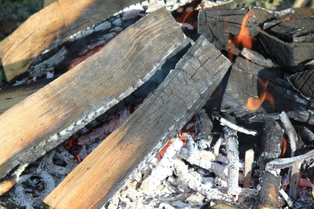 embers: Flame with embers outdoors photo