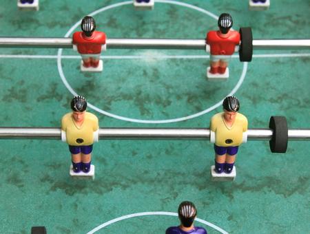foosball: vintage table football close up, foosball