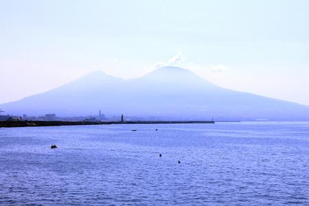 grandiose: The view on the great Mount Vesuvius, Naples, Italy.