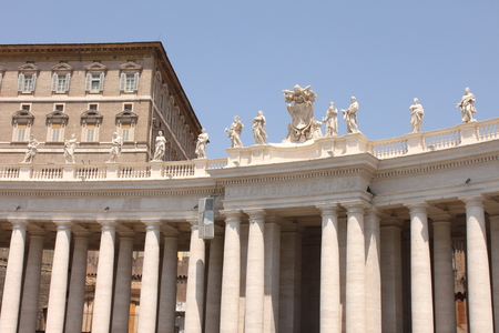 Vatican city. Basilica. St. Peters Square. Stock Photo