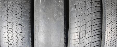worn out bald old car tire closeup Reklamní fotografie
