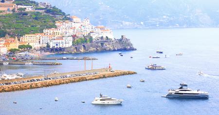 It is a beautiful landscape of the Mediterranean Sea.