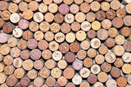 Calendars marks on corks
