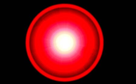 Red abstract circle with white center on black background 版權商用圖片