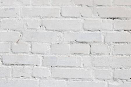 Beautiful white brick wall as abstract white background 版權商用圖片