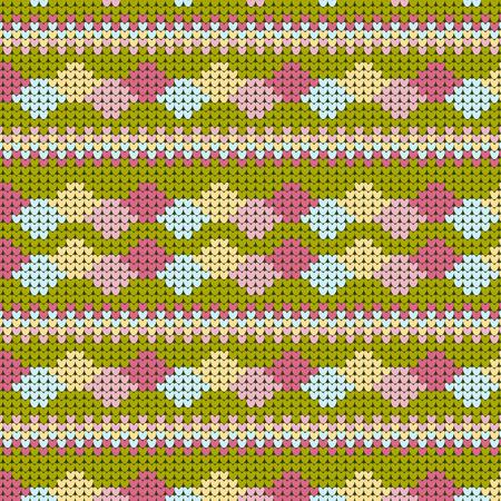 knitted sweater winter patternNorwegian style
