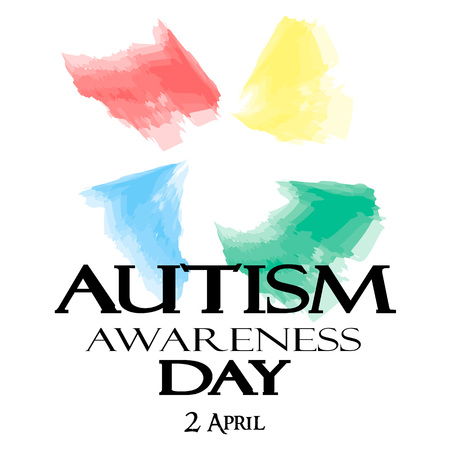 Autism Awareness Month. Watercolor symbol of autism. Healthcare concept.