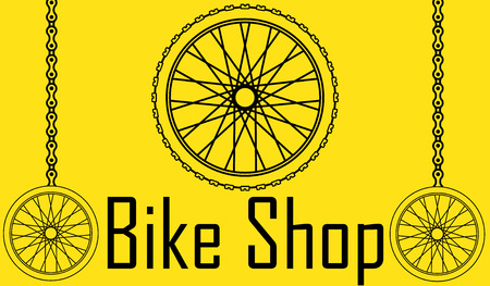 Bicycle Poster Vector Illustration. wheel bike postcard, flair Illustration