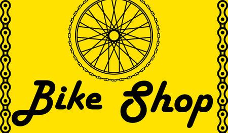Bicycle Poster Vector Illustration. wheel bike postcard. Bike Shop Illustration