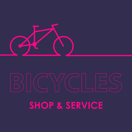 Biking, linear, stylish icon vector illustration of a high quality and modern Bicycle