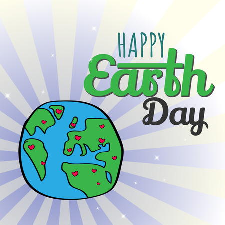Earth Day  Eco friendly ecology concept. World environment day background. Save the earth Green day Vector illustration.