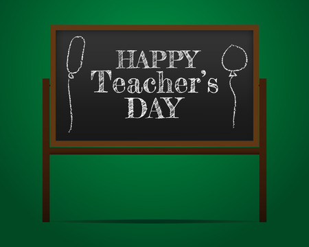 Illustration of Kids Celebrating Teachers Day, banner or poster for Happy Teacher s Day with nice and creative design